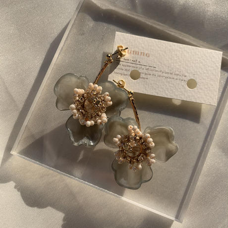 【Hand-made】 The poppy pierces / earrings #12