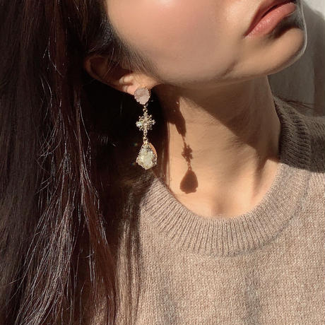 【Hand-made】The crystal pierces #207