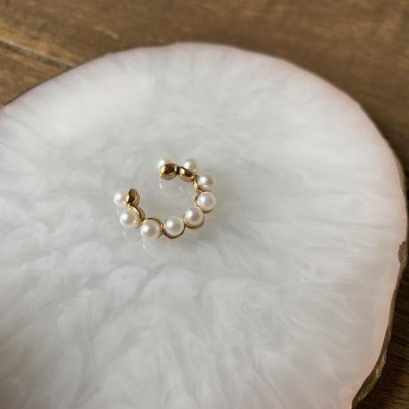 【Hand-made】Ear-cuff (pearl) #502