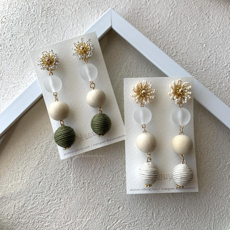【Hand-made】 The vacation pierces / earrings #15