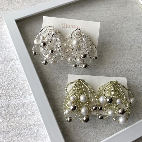 【Hand-made】The shower  pierces / earrings #6