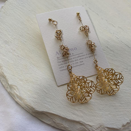 【Hand-made】Datura pierces/earrings #13