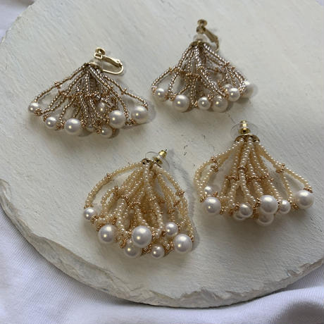 【Hand-made】The shower (short) pierces / earrings #5