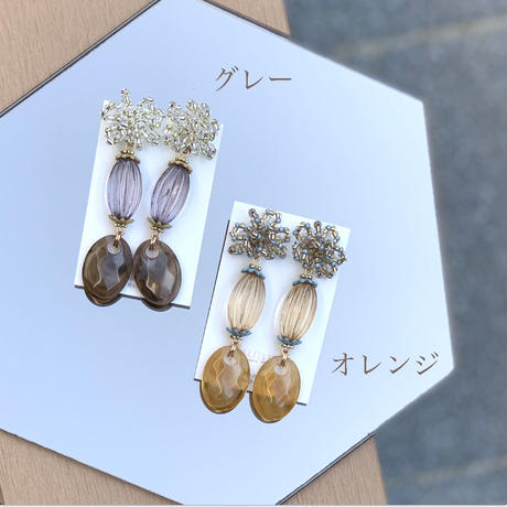 【Hand-made】 The chub pierces / earrings #13