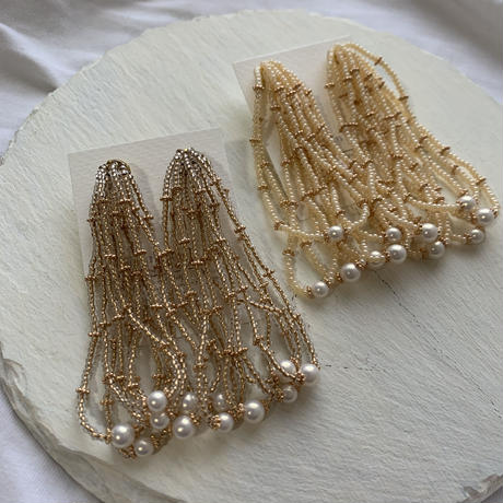 【Hand-made】The shower (long) pierces / earrings #6