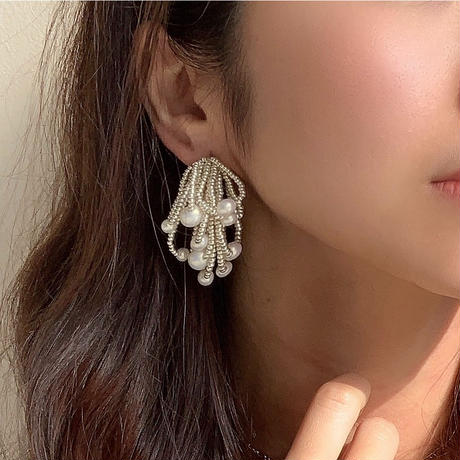 【Hand-made】The shower  pierces / earrings #333