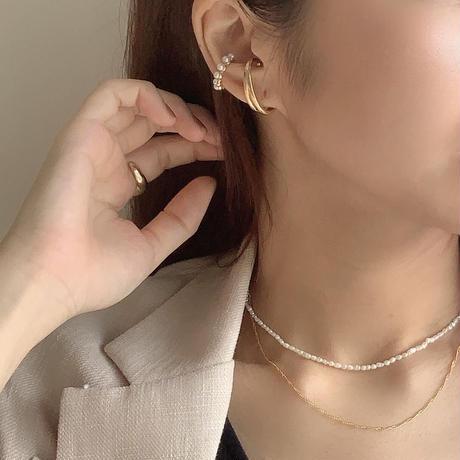 【Hand-made】Ear-cuff (oval) #503