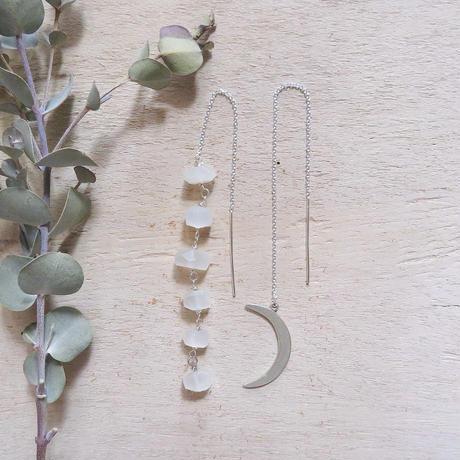 【SV925】cresent moon earrings