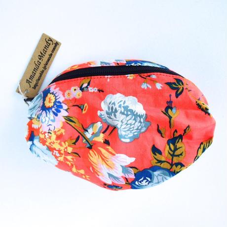 リバティバルーンポーチ(小)マジカルブーケ・オレンジ