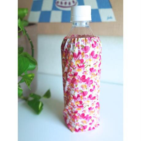 リバティペットボトルカバー(持ち手なし)サマーセットビオラ・ピンク