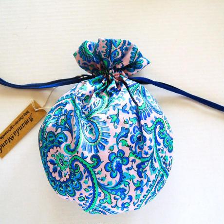 リバティキャンディ巾着・リーズル・ピンクブルー  2