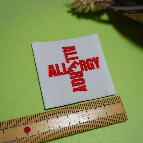 アレルギーマークワッペン縫い付けタイプ