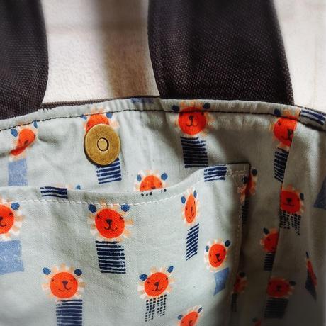 8号帆布のキューブバッグチャコール【No.201213】