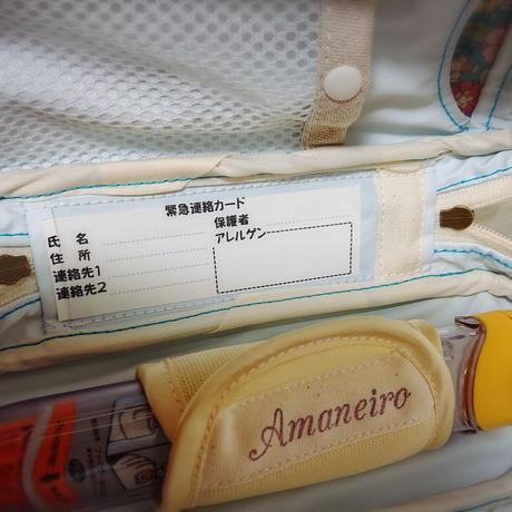 ひょっこりエピペンポーチ1本両開きタイプ・YUWAスモーキーブルー【No.200810】