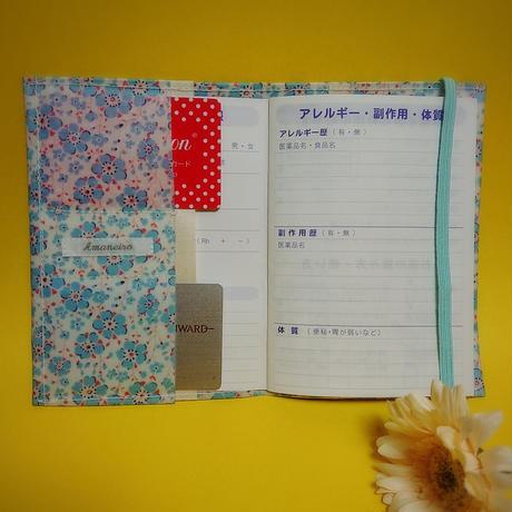 ラミネート生地のお薬手帳ケース【No.180521A】