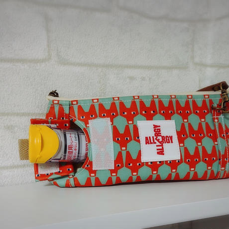 ひょっこりエピペン用ポーチ薄型ペンポーチタイプラミネート生地【No.190907B】