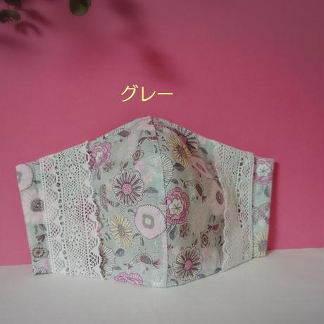 2重になる布マスク【花と鳥柄】