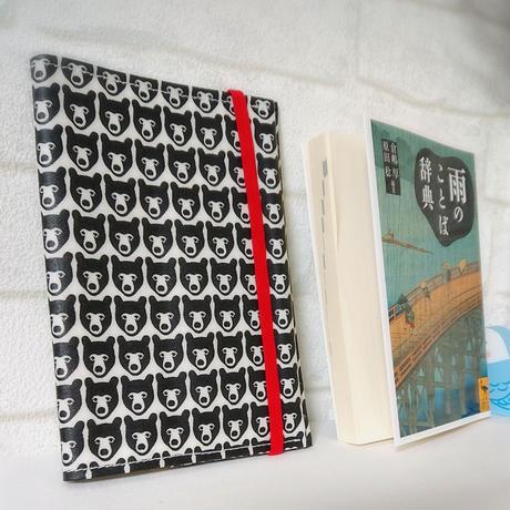 ラミネート生地のお薬手帳カバー*クマ柄