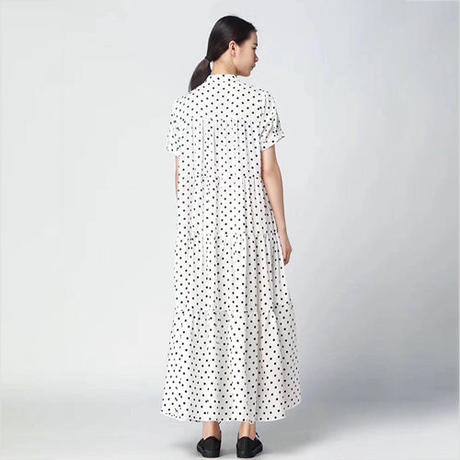 Ruffle Dotドレス《BLACK/WHITE》