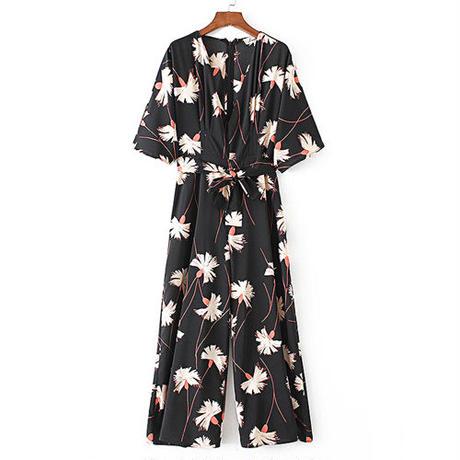 Floral Printジャンプスーツ