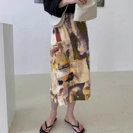 Marble Printスカート