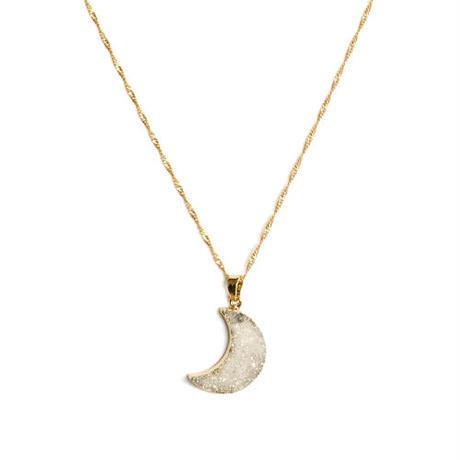 Druzy Moon ネックレス