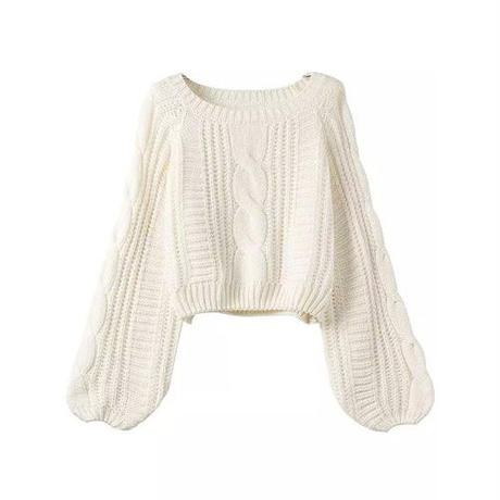 Cableクロップドセーター