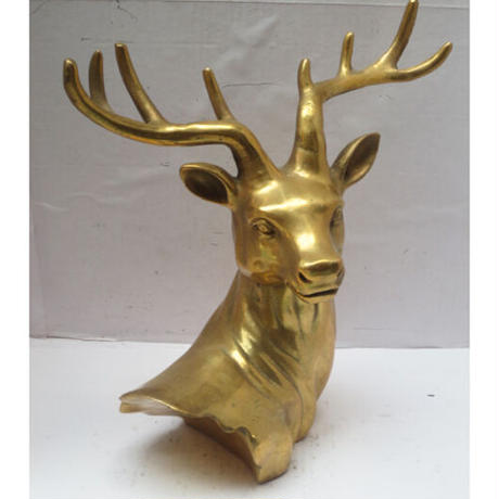Brass Deer Headオブジェ