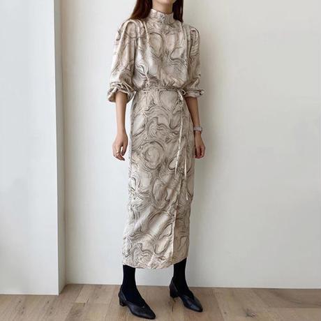 Marble Printed ドレス