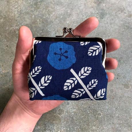 藍ガマ口 -藍の花-