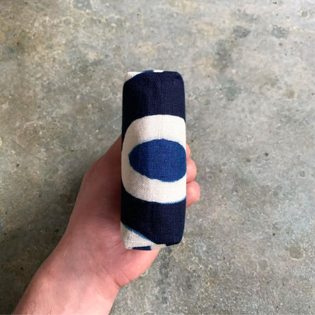 藍ガマ口 -アフリカ柄-