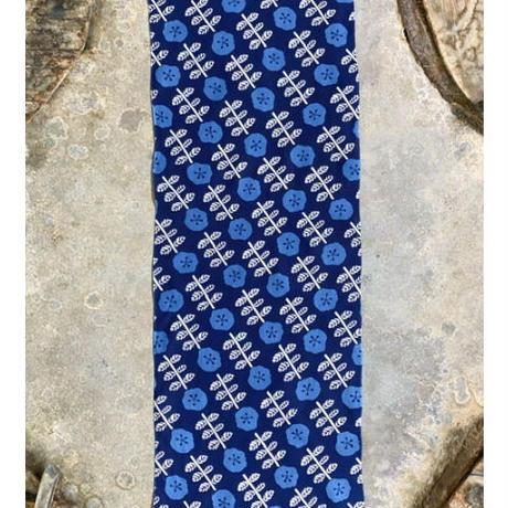 【三色染】藍の花手ぬぐい