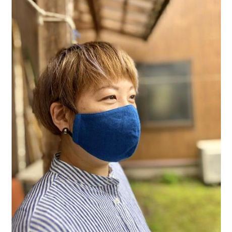 藍染手ぬぐいマスク - Tenuma - 淡色