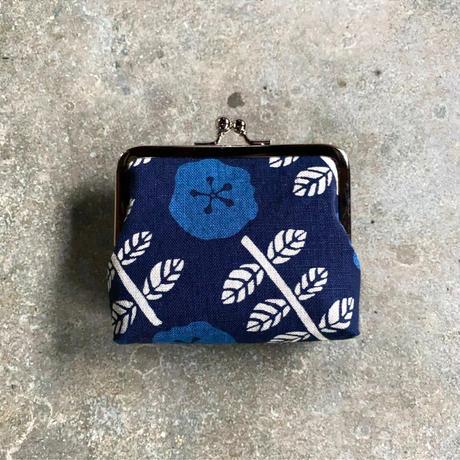 Indigo Gamaguchi (coin purse) -Indigo Flower-