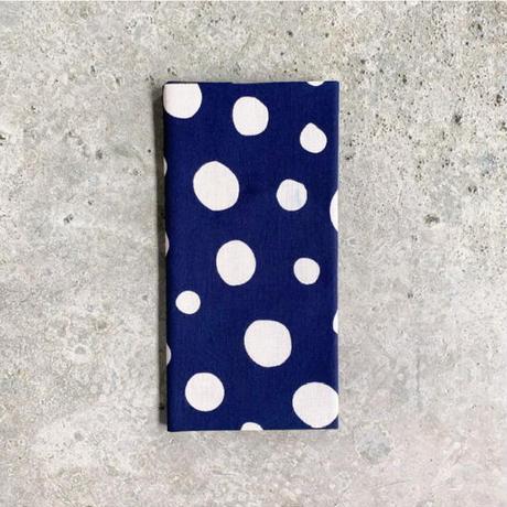 Polka Dots Tenugui (hand towel) -Dark Blue