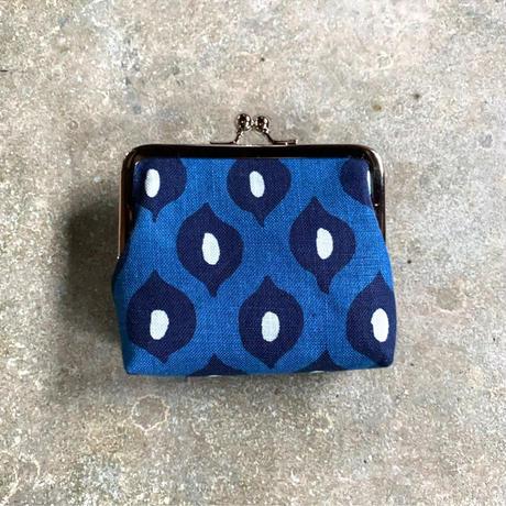 Indigo Gamaguchi (coin purse) -Strawberry-