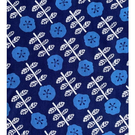 【Dyed Three Shades】Indigo Flower Tenugui (hand towel)