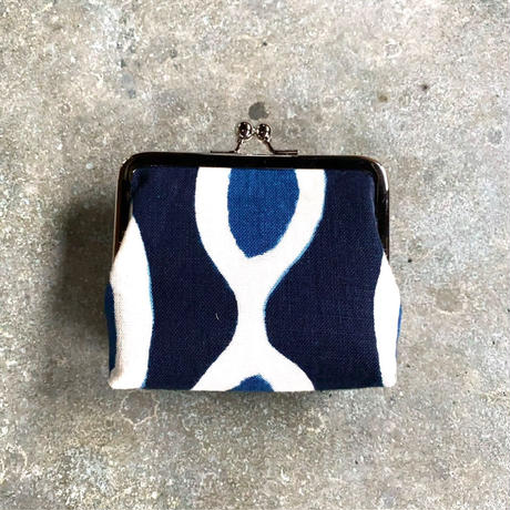 Indigo Gamaguchi (coin purse) -African Inspired Pattern-