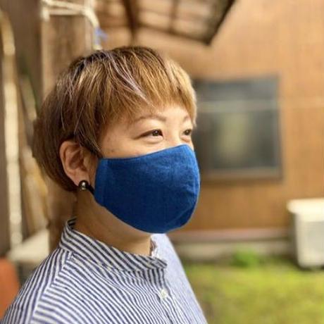 Indigo Dyed Tenugui Mask - Tenuma - Light Blue