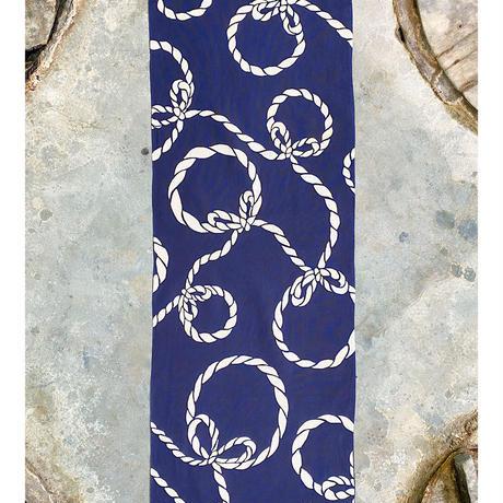 """Tie the knot"" Tenugui (hand towel) -Dark Blue"