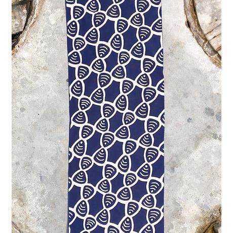 Shijimi (Basket Clams) Tenugui (hand towel) -Dark Blue