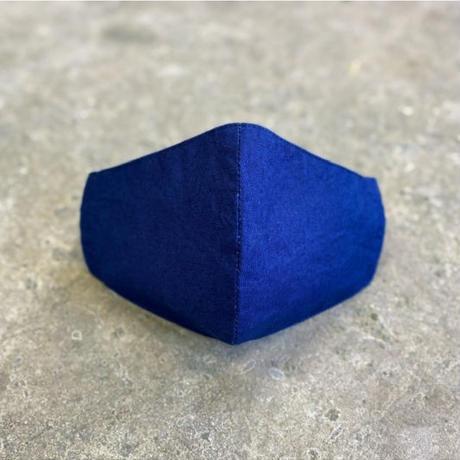 Indigo Dyed Tenugui Mask - Tenuma - Mid Blue