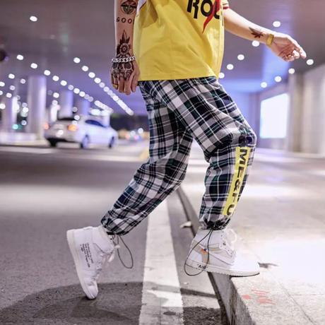 刺繍ストリート風ラフパンツ【S00102】