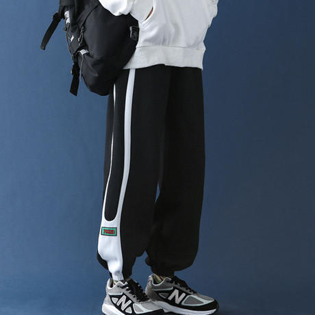 【COOL】ラインデザインカジュアルラフパンツ【EW01034】