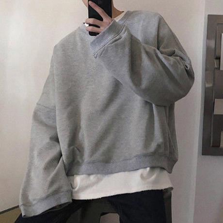 [TREND]袖広ビックサイズトレーナー 3カラー