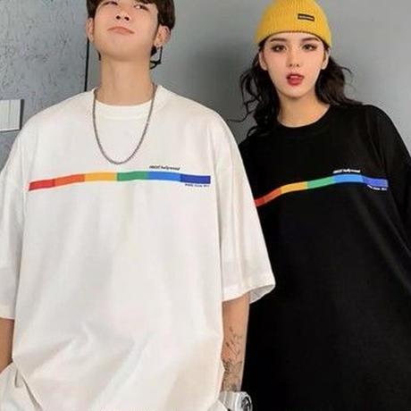 レインボーラインビックサイズTシャツ【LA00101】