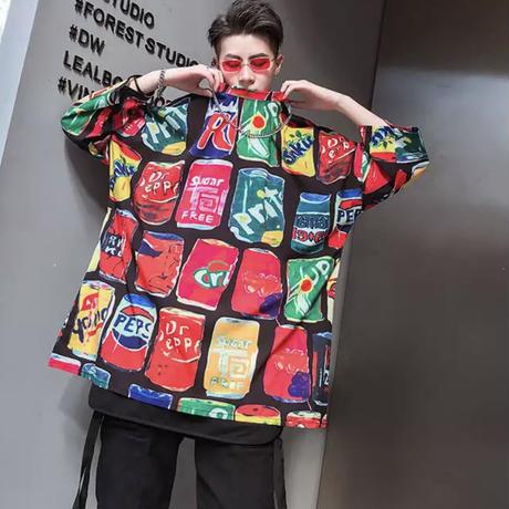 ドリンクデザインビックTシャツ【LA00261】