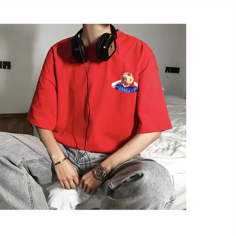 BoyFancyプリントTシャツ【S00046】