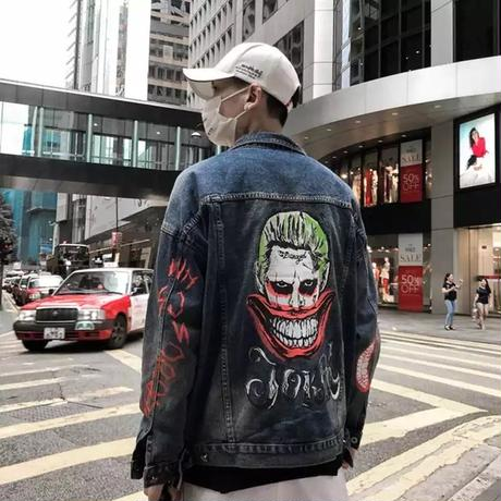 【COOL】JOKERデザインデニムジャケット