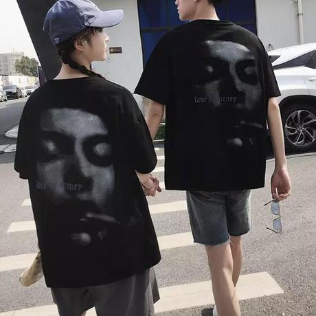 FaceビックTシャツ【S00123】